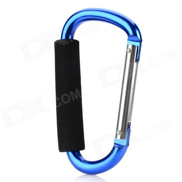 13.9cm Aluminum Alloy Outdoor Sports Carabiner w/ Sponge - Blue ryder anodizing aluminum alloy screw lock carabiner blue 7mm