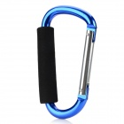 13.9cm Aluminum Alloy Outdoor Sports Carabiner w/ Sponge - Blue