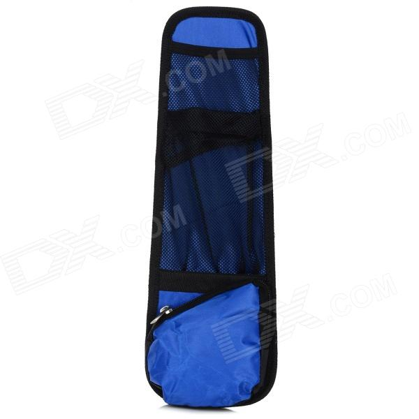 CQDA 1-6B/717 Multifunctional Oxford Fabric Car Seat Chair Side Storage Bag - Black + Blue