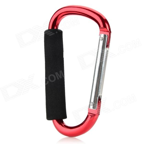 13.9cm Aluminum Alloy Outdoor Sports Carabiner w/ Sponge - Red