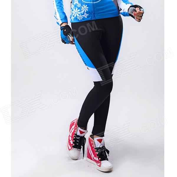 NUCKILY GD001 Outdoor Sports Cycling Long Pants for Women - Blue + Black + Multi-Colored (M)
