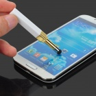 Lipstick Style ABS + Silicone Capacitive Touch Stylus Pen w/ Dust Plug for Smartphones - White