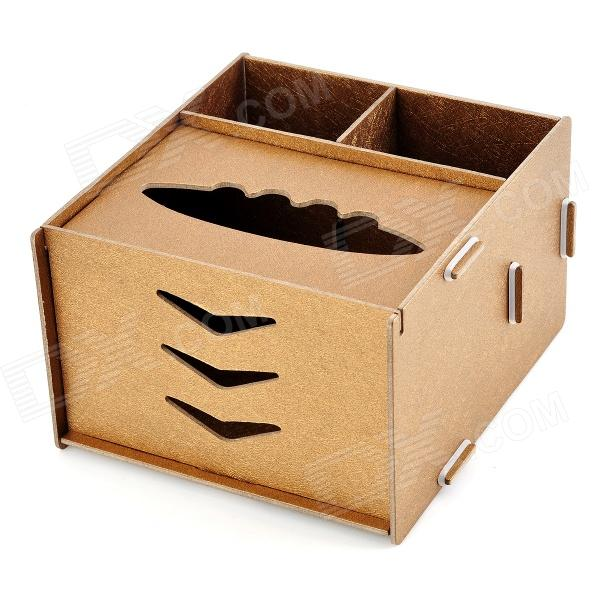 Wooden Assembly DIY Tissue Storage Box - Wooden multifunctional wooden storage box mobile phone repair tools box motherboard accessories toolbox