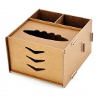 Wooden Assembly DIY Tissue Storage Box - Wooden