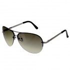 Stylish Zinc Alloy Frame Resin Lens UV 400 Protection Men's Sunglasses - Brown