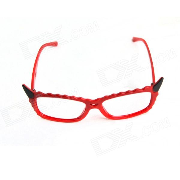 Lovely Devil Cat Style Eyeglass Frame - Red + Black футболка toy machine devil cat navy