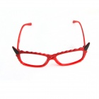 Lovely Devil Cat Style Eyeglass Frame - Red + Black