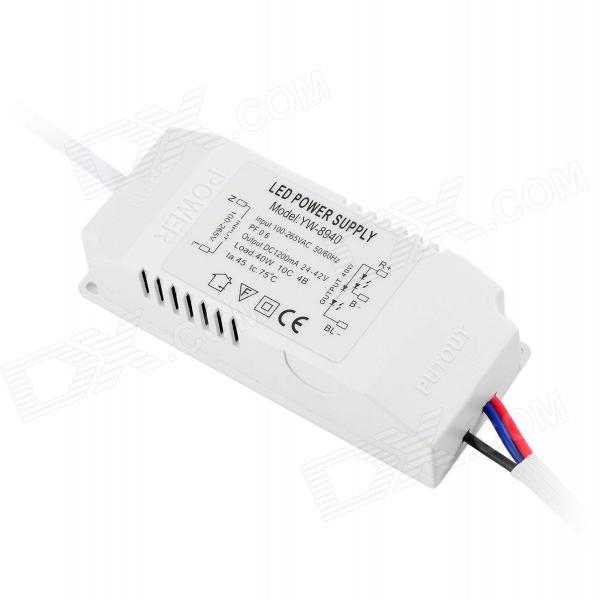 YW-8940 10 x 4W LED Power Supply - White (AC 100~265V)