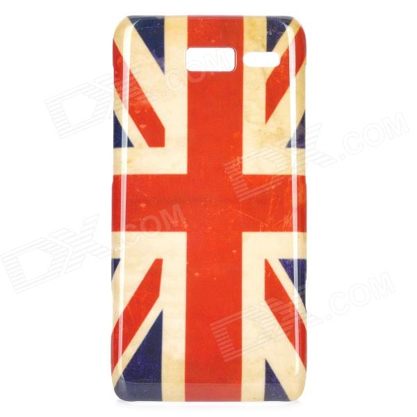 Stylish UK Flag Pattern ABS Back Case for Motorola RAZR i / XT890 - White + Blue + Red motorola razr