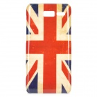 Stylish UK Flag Pattern ABS Back Case for Motorola RAZR i / XT890 - White + Blue + Red