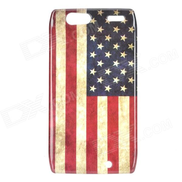 Stylish US Flag Pattern ABS Back Case for Motorola RAZR XT910 - White + Blue + Red motorola razr