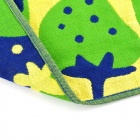 Fashionable Strawberry Pattern Long Linen + Cotton Gauze Towel - Green + Navy Blue + Yellow (L)