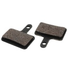 APE DV322 Brass-Based Semimetallistic Composite Bike Bicycle Disc Brake Pad - Black (2 PCS)