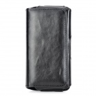 S5-BK-C Convenient Waist Belt Mount PU Case w/ Clip for Samsung Galaxy S5 - Black