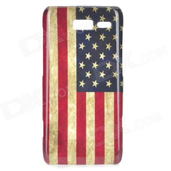 Stylish US Flag Pattern ABS Back Case for Motorola RAZR i / XT890 - White + Blue + Red motorola razr