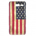 Stylish US Flag Pattern ABS Back Case for Motorola RAZR i / XT890 - White + Blue + Red