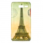 Retro Eiffel Tower Pattern ABS Back Case for Motorola RAZR i / XT890 - Yellow + Grey