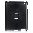 Protective 360 Degree Rotation Back Case w/ Hand Strap Holder for IPAD 2 / 3 / 4 - Black
