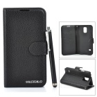 Stylish Flip Open PU Case w/ Stand / Card Slots for Samsung Galaxy S5 - Black