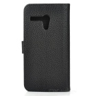 High Quality Stylish Flip Open Case w/ Card Slots / Stand for MOTO G - Black