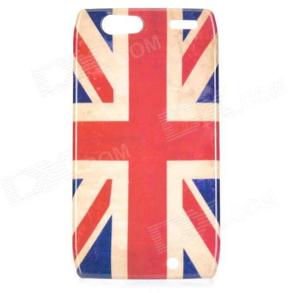 Stylish UK Flag Pattern ABS Back Case for Motorola RAZR XT910 - White + Blue + Red motorola razr