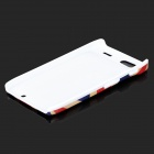 Stylish UK Flag Pattern ABS Back Case for Motorola RAZR XT910 - White + Blue + Red