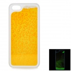 RONE EP-PC16 Creative Protective PC + Liquid Back Case for IPHONE 5 / 5S - Yellow + Golden