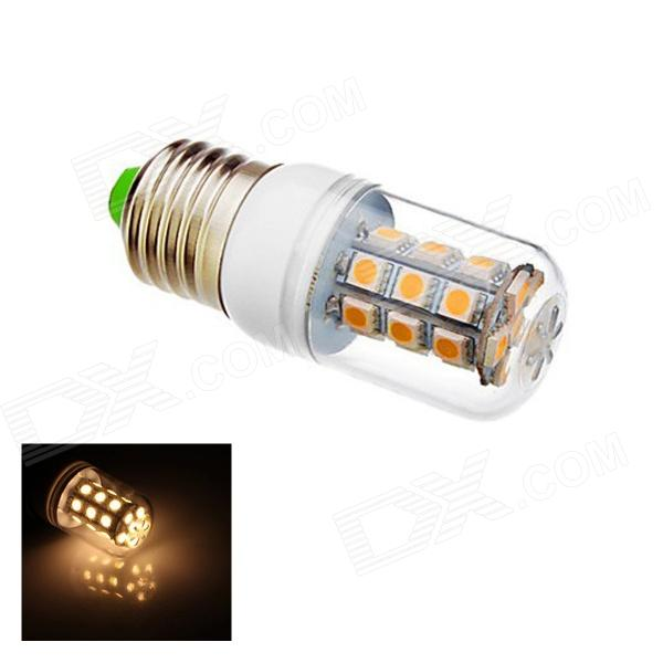 E27 12W 450lm 3000K 27-SMD 5050 LED Warm White Light Lamp Bulb - White (AC 85~265V) r7s 15w 5050 smd led white light spotlight project lamp ac 85 265v