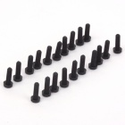 ZnDiy-BRY R205-308 M3 x 8 Plastic Nylon Screws for Multicopter Flight / FPV - Black (20 PCS)