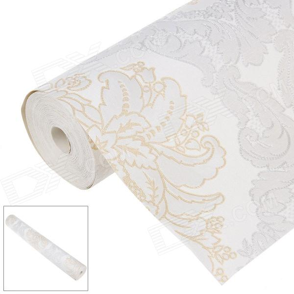 Wall Paper Sticker Decorative PVC Paper - Golden + Silver + Beige