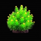 E4LH  Decorative Lifelike Artificial Water Plants for Aquarium - Green +Yellow