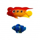 Aquarium Tank Simulation Swimming Fish - rot + gelb + blau (6 Stk)
