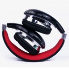 OYK 3.5mm Wired Stereo Headphones - Black + Red (120cm-Cable)