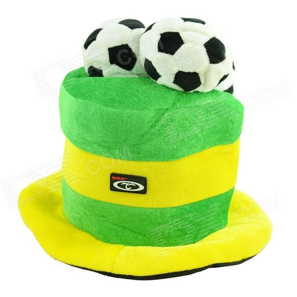 OUMILY 2014 Brazil World Cup Cotton Polyester Hat - Yellow + Green brushed cotton twill ivy hat flat cap by decky brown