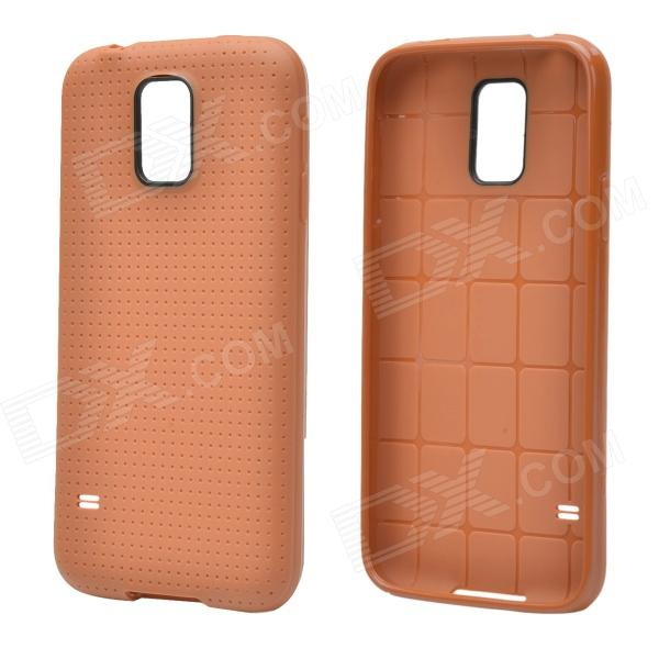 купить Plaid Pattern Protective TPU Back Case for Samsung Galaxy S5 - Brown недорого