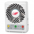 GT827B Portable 7-Blade 3-Mode 5V USB 2.0 Fan w/ LED Indicator - White