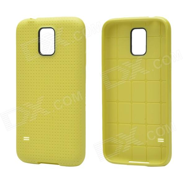 Plaid Pattern Protective TPU Back Case for Samsung Galaxy S5 - Olive Green owl pattern protective tpu back case for samsung galaxy s5 green black