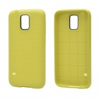 Plaid Pattern Protective TPU Back Case for Samsung Galaxy S5 - Olive Green