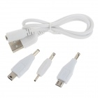 LY-401 8000mAh Dual USB Mobile Power Source Bank for IPHONE + More - White