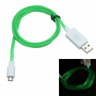 TLG-021 USB 2.0 to V8 High-speed Intelligent Light Cable - White + Green (95cm)