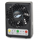 GT827B Portable 7-Blade 3-Mode 5V USB 2.0 Fan w/ LED Indicator - Black