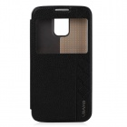 USAMS Protective PU Leather Case Cover Stand for Samsung Galaxy S5 - Black