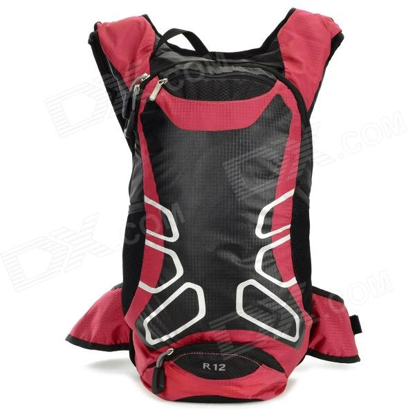 LOCAL LION 450 Cycling Nylon Backpack Bag - Black + Red (12L) local apparel