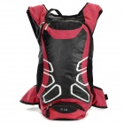 LOCAL LION 450 Cycling Nylon Backpack Bag - Black + Red (12L)
