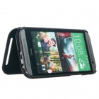 KALAIDENG Protective PU Leather Case Cover Stand for HTC ONE 2 M8 - Black