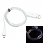 TLG-021 USB 2.0 to V8 High-speed Intelligent Light Cable - White (95cm)