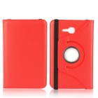 360 Degree Rotation Protective PU Leather Case Cover Stand for Samsung Galaxy Tab 3 Lite T110 - Red