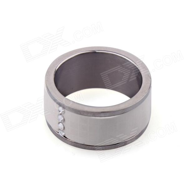 Smart NFC Ring for Smart Phone / Unlock Door - White + Silver (Circumference 54mm)