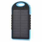 miniisw MN-50 Portable 1.2W 5000mAh Solar Powered Panel w/ LED Indicator  - Blue + Black