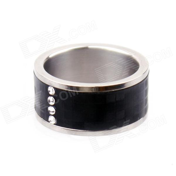Smart Ring con NFC per Smart Phone / sbloccare porta - nero + argento (circonferenza 62,8 mm)